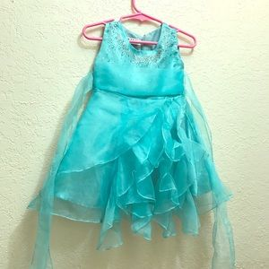 Fancy blue girls dress